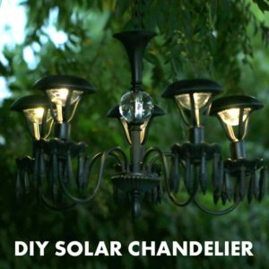 DIY Solar Chandelier: A Luxurious Garden Decor with No-Electricity Hasslement