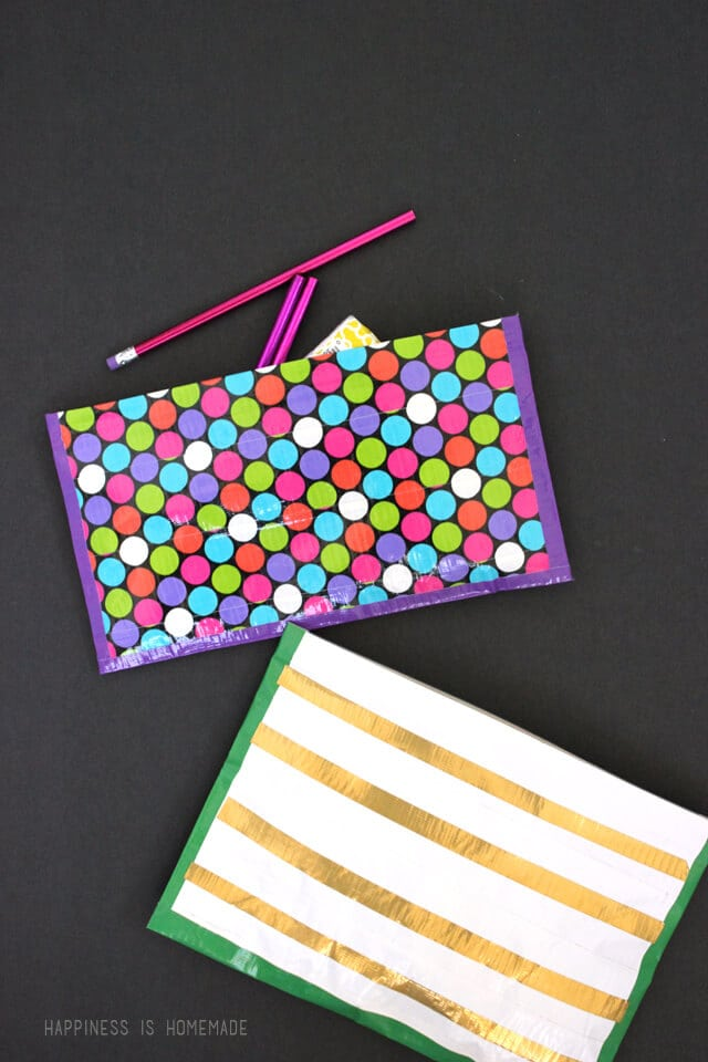 No-Sew Easy-to-Craft Zipper Pouch with Duck tape Designs: A Girly DIY Craft Idea for Summers