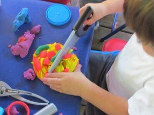 Under-Construction Play Dough Activity with Homemade Play Dough By Teach Preschool
