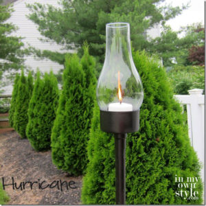 Outdoor Tuna Can Lantern: Magical Garden View with Candle Light Style