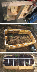 Recycling Pallet Gardening: DIY Rustic Raised Garden Planter By Crafting Creatures