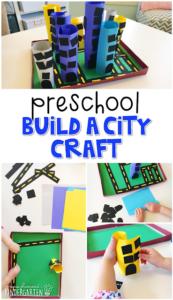 Preschool Construction Activity: Build A City Project with Construction Paper