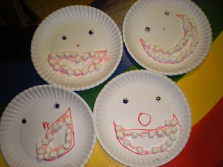 Preschool Dental Health Craft Idea with Hawaiian Punch: A Perfect Blend of Paper Plate and Marsh ...
