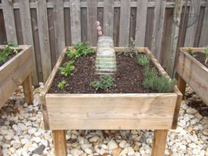 Raised Garden Bed on Lumber Legs: A Smart Raised Garden Planter Idea for Rocky Garden Area