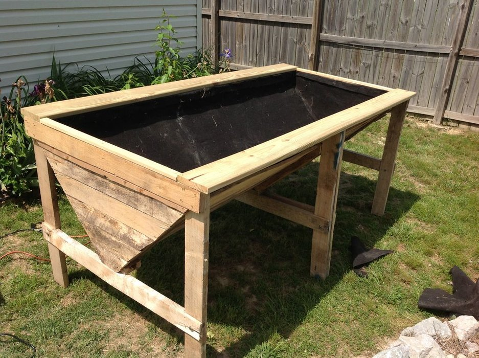 Tutorial of Raised Planter Bed From Pallets with Step By Step Making Instruction