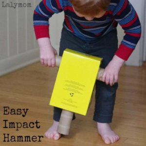 DIY Recycled Construction Crafts – Cardboard Impact Hammer Toy Tutorial By LalyMom