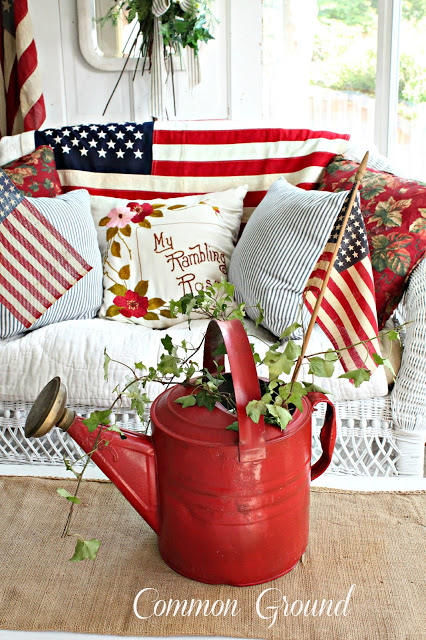 DIY Trendy Porch Adornment with Inspirational 4th Of July Patriotic Touch