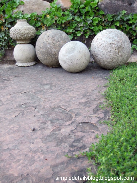DIY Restoration Hardware Garden Spheres with Concrete Objects