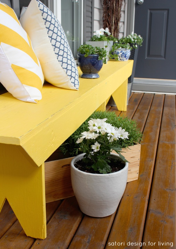 Captivating Front Porch Decor with Yellow Accent in Cottage Charm: Spring Front Porch Idea
