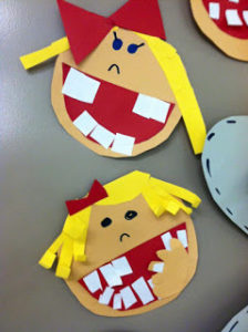 Ist Grade Dental Project with Colorful Paper Craft: A Dental Health Sensory Play Idea