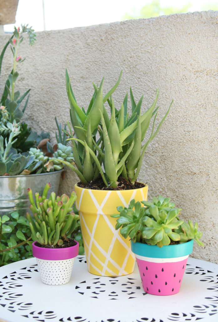 Summer Painted Planters: The Easiest Way to Revamp The Porch Look Quickly with The Season Touch