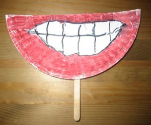 Easy DIY Craft For Preschoolers For Teeth Theme Day: Easy-to-Make Smile Sticker