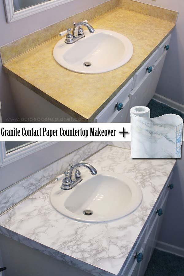 DIY Countertop Makeover with Granite Contact Paper: A Smart House Decor Idea