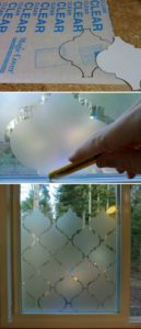 DIY Window Privacy Design with Th Help of Thick Contact Paper Cuttings