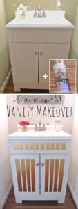 DIY Vanity Makeover with Stripe Contact Paper: The Simplest Creative Way to Reinvent Your Vanity