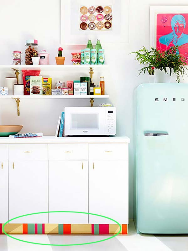 Super Attractive Kitchen Makeover with Colorful Contact Paper for Kitchen Toe Kick