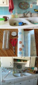 DIY Easy-to-Apply and Affordable Kitchen Backsplash Makeover with Contact Paper