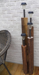 DIY Rustic Post Light from Old Lumber Pieces: Exclusive Garden Decor Idea