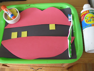 The Preschool Experiment For Dental Health Month: Simple Craft Activity with Colorful Paper Cuttings