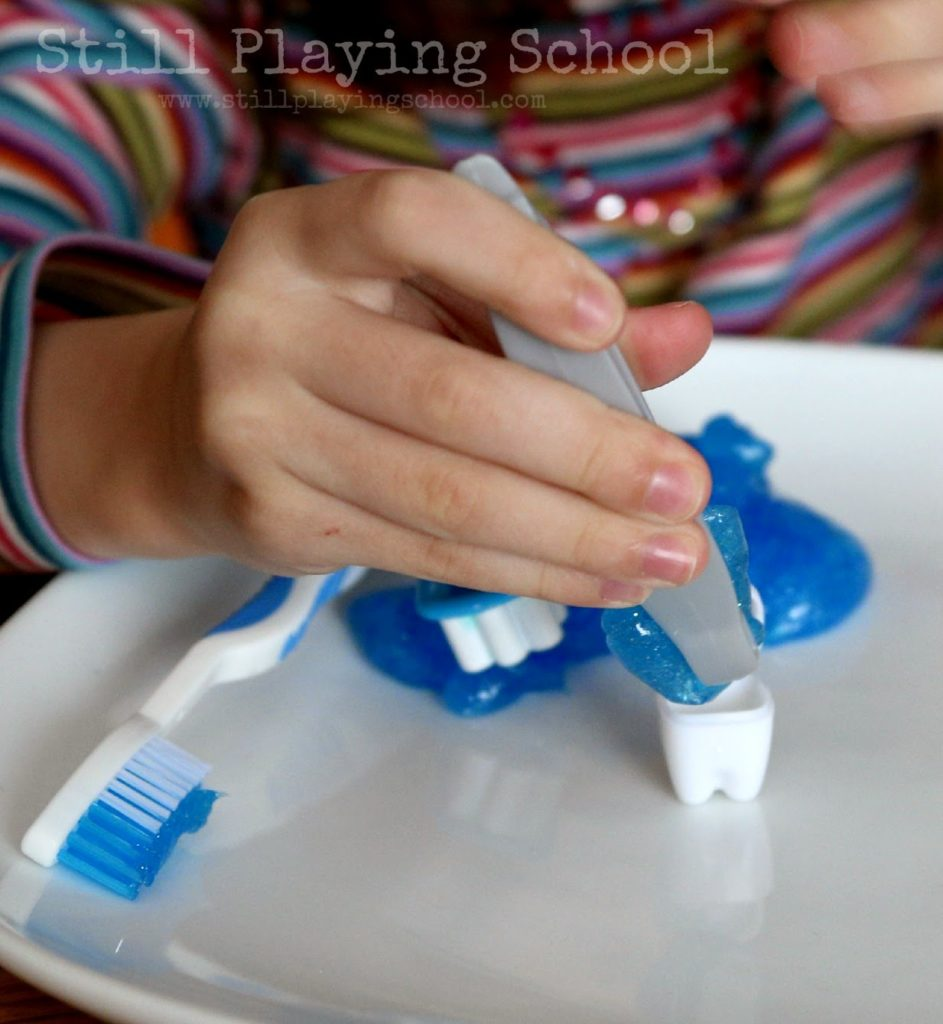 DIY Toothpaste Slime: A Fun Project for Dental Health Month with Glittery Slimes