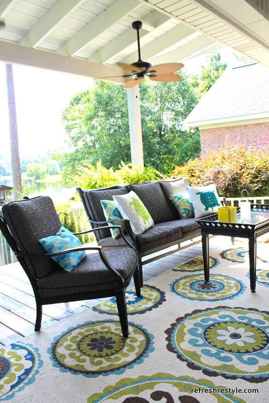 Ravishing Porch Decor Idea with Luxurious Furniture Set By Refresh Restyle