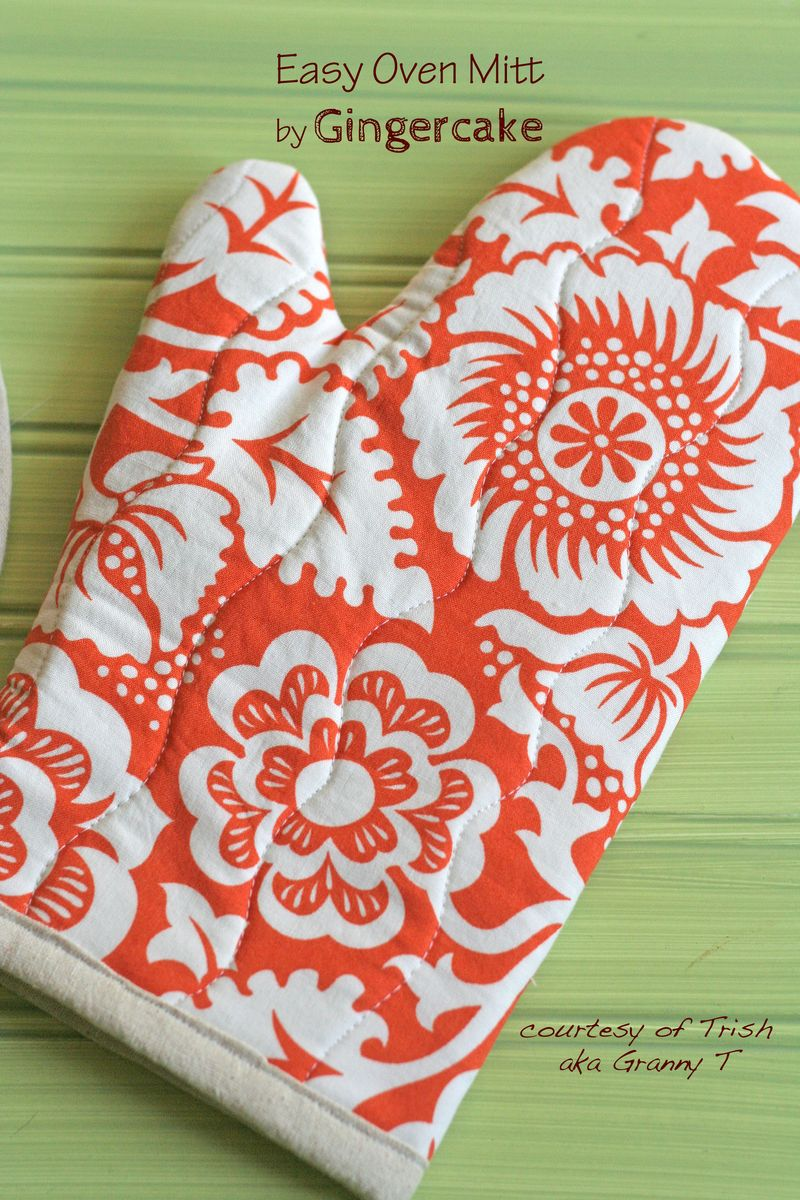 Tutorial of DIY Oven Mitt By Gingercake: A Beautiful Handmade Gift Idea with Quilting Fabric