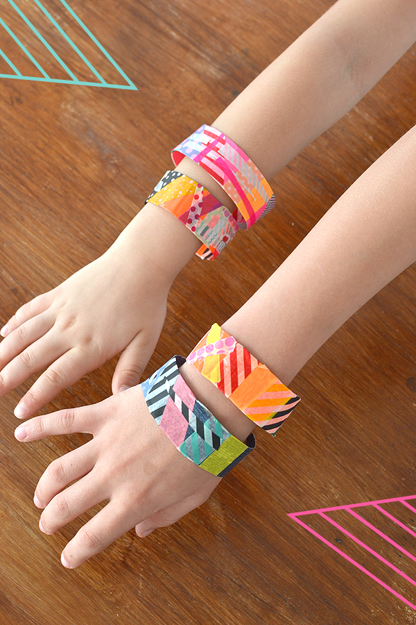 Colorful And Trendy Washi Tape Bracelets: Amazing DIY Summer Craft Idea for Girls