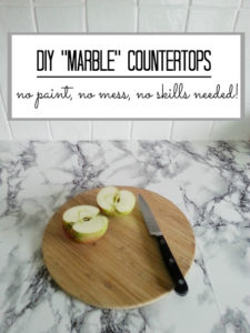 DIY Counter Top Idea for Kitchen Counter with Faux Effect in Chic Marble Print