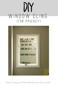 DIY Window Cling: A Fashionable WIndow Cover Idea with Contact Paper
