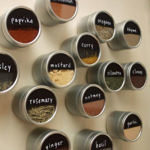 DIY Smart Kitchen Craft Idea: CReative Levels for Spice Boxes Out of Contact Paper