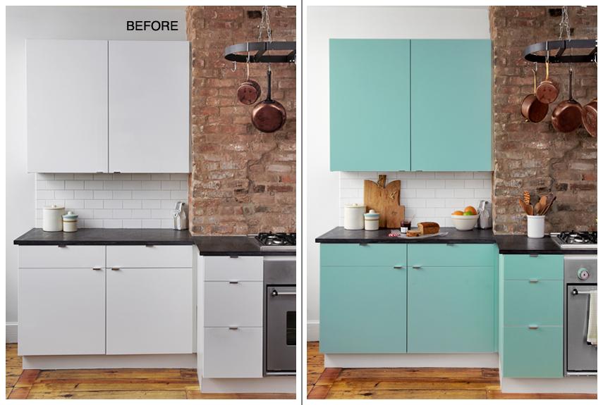 DIY Kitchen Cabinet Makeover: Totally Covered Cabinet Door ...
