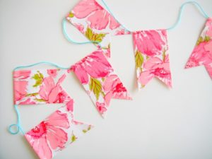 DIY Bunting with Beautifully Designed Contact Paper: A Quick and Cheap Home Decor Craft