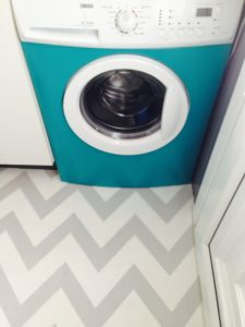 DIY Washing Machine Makeover with Colorful Contact Paper for Front-Load Devices