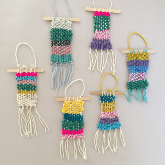Weaving with Kids: DIY Cardboard Looms with Yarn, Cardboard, And Pom-Poms