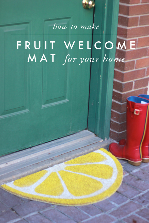 Weekend Project: Fruit Slice Welcome Mat for Summer-Ready Front Porch