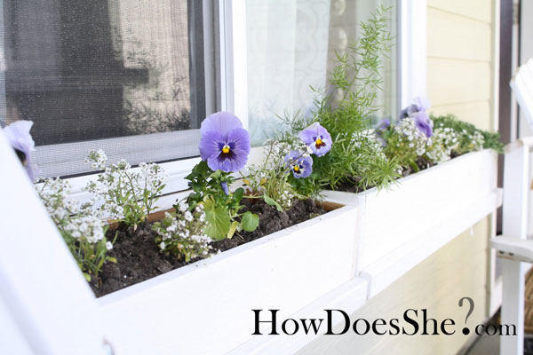 DIY IKEA WIndow Box Planter Tutorial for Flower Gardening By HowDoseShe.Com