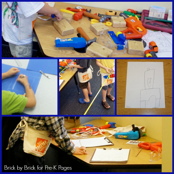 Workshop Dramatic Play with Smart Construction Activity Tool Box and Wooden Blocks