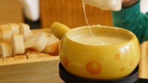 Switzerland Cheese Fondue: Warm, rich taste goes great with French bread