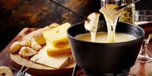 Traditional Swiss dish: Switzerland, fondue great with dry white wine