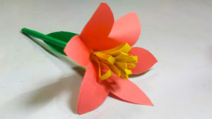 Simple Step by Step Paper Flower- Construction Paper Kids Crafts