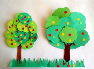 Construction paper Tree Step by Step PIctures