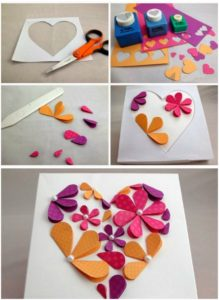 Make 3D flower paper with Construction paper