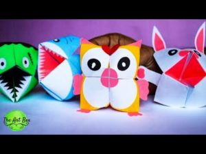 Easy paper Animals – Paper folding activities for kids