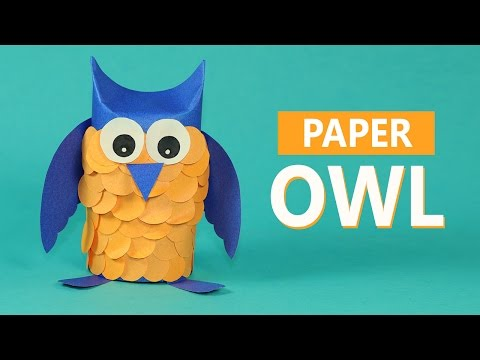 Construction Paper Owl – making paper animals