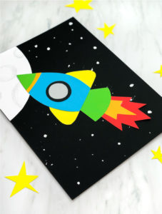 Easy Fun Rocket Craft For Kids: Construction Paper space activities for kids