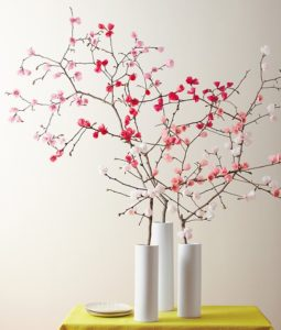 Bring the Spring: Beautiful Cherry Blossoms from Wires and Tissue Papers