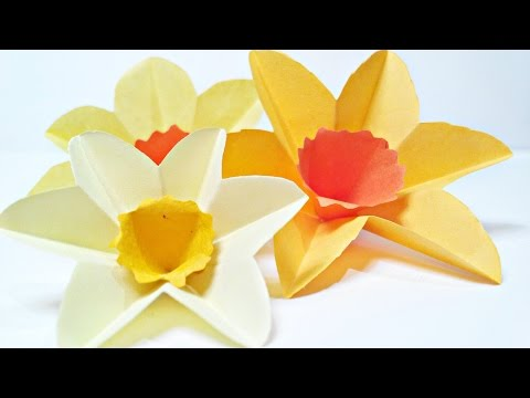 Daffodils Paper Flower Crafts for wall decoration arts and crafts paper flowers easy for kids