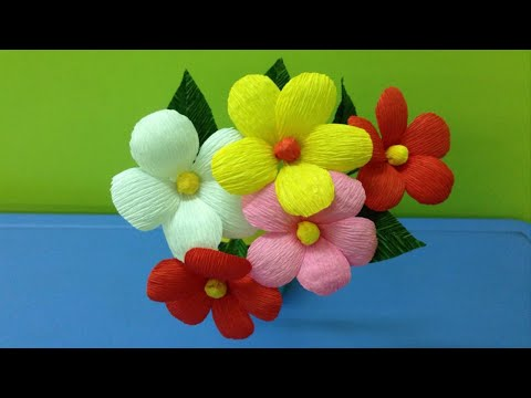 Easy to Make Crepe Paper Flowers – Paper Flower Crafts