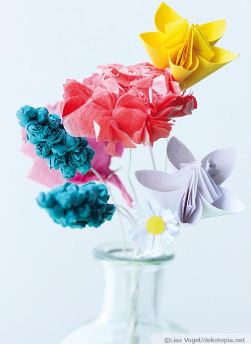 DIY Paper colorful paper bouquet