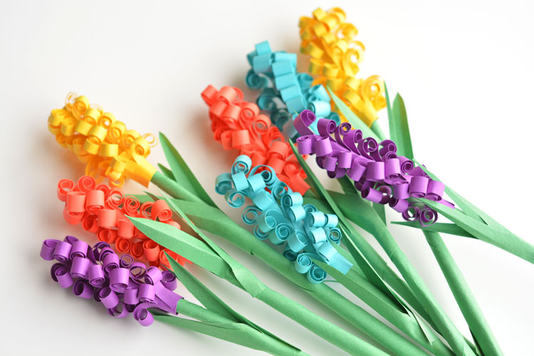 Bright and colorful Paper Hyacinth flower – Crafts your kids would love to